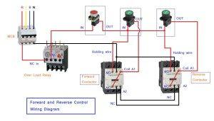 forward reverse motor starter | forward and reverse control circuit | circuit  diagram, electrical engineering books, stepper motor  pinterest