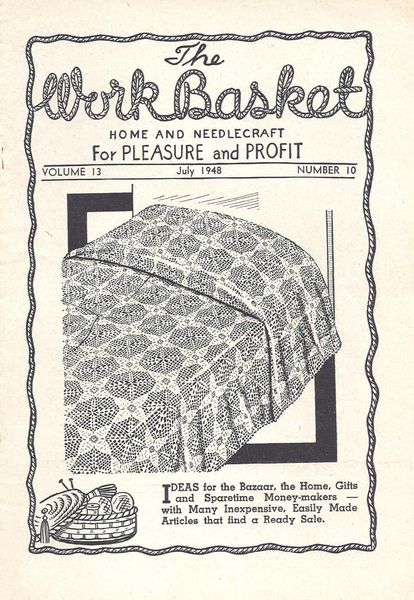 Workbasket Magazine July 1948 Pdf Digital Crochet