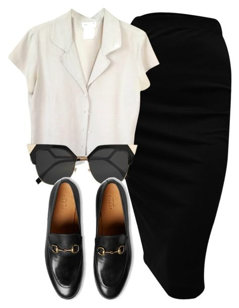Untitled #5936 by laurenmboot on Polyvore featuring polyvore fashion style agnès b. Gucci clothing