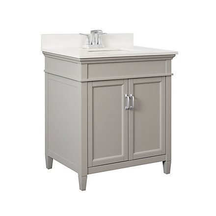 Foremost Ashburn 30 Inch Vanity Combo In Grey With Lily White
