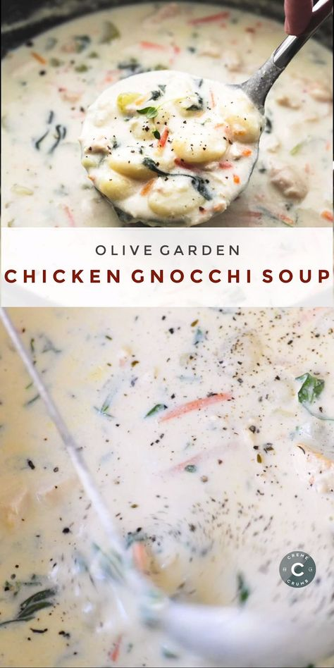 Cajun Delicacies Is A Lot More Than Just Yet Another Food This Copycat Olive Garden Chicken Gnocchi Soup Is Every Bit As Creamy And Delicious As The Restaurant Version, Made In Less Than 30 Minutes Healthy Soup Recipes, Cooking Recipes, Good Soup Recipes, Oven Recipes, Easy Recipes, Dinner Recipes, Extra Recipe, Quick And Easy Soup, It's Easy