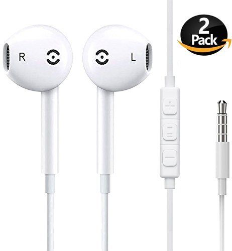 Mooboo Premium Quality Earphones Earbuds Headphones With Stereo Mic And Remote Control Fully Compatible With Iphone Ipad Ipo Earbuds Headphones Apple Headphone