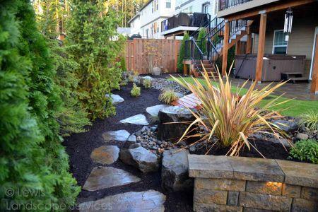 Lewis Landscape Services Complete Yard Remodel Projects Yard Remodel Flagstone Patio Landscape Services
