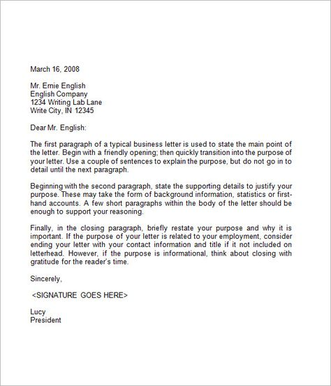information letter examples
