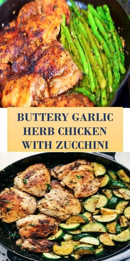 Buttery Garlic Herb Chicken With Zucchini Chicken Yummy Chicken Slow Cooker Recipes Fun Easy Recipes Keto Recipes