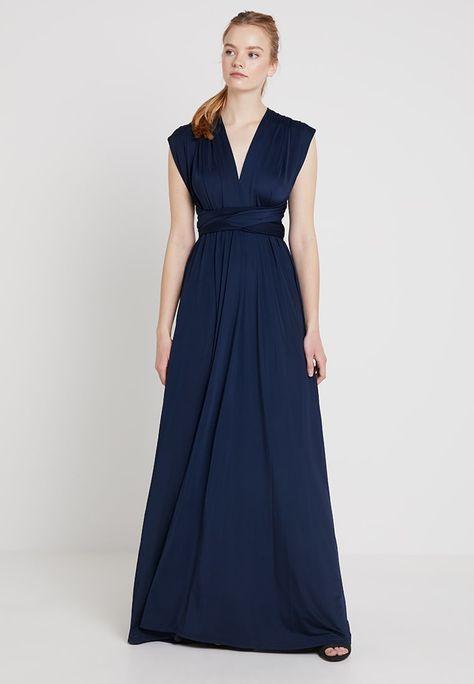 Abiti Da Sera Zalando.Lola Wrap Dress Abito Da Sera Dark Blue Zalando It