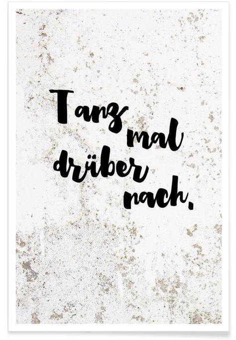 Tanz mal drüber nach als Premium Poster von Maren Kruth   JUNIQE