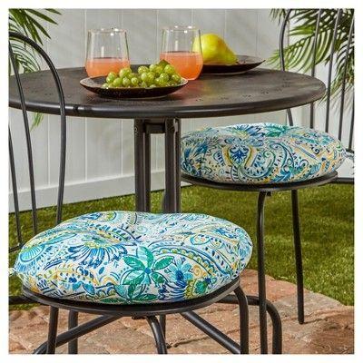Set Of 2 Outdoor Bistro Chair Cushion Baltic Kensington Garden Bistro Chairs Patio Cushions Outdoor Patio Seat Cushions