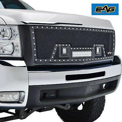 Sponsored Ebay Eag Rivet Grille Steel Mesh W Led Light Fits 07 10