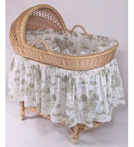 Vintage Toile Bassinet Bedding Use Dimensions To Create The