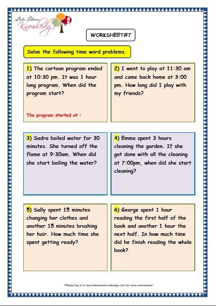 Grade 3 Maths Worksheets 8 5 Time Problems Lets Share Knowledge 3rd Grade Math Worksheets Math Word Problems Math Worksheet