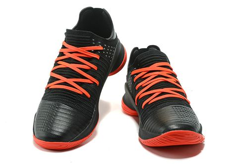 64b5ad0196e 2018 Black Red Under Armour Curry 4 Low Shoe