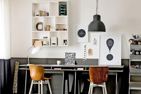 Denk dan eens aan een halve muur, ook wel geverfde lambrisering genoemd. Een half geverfde muur geeft je kamer een dynamisch en speels effect.