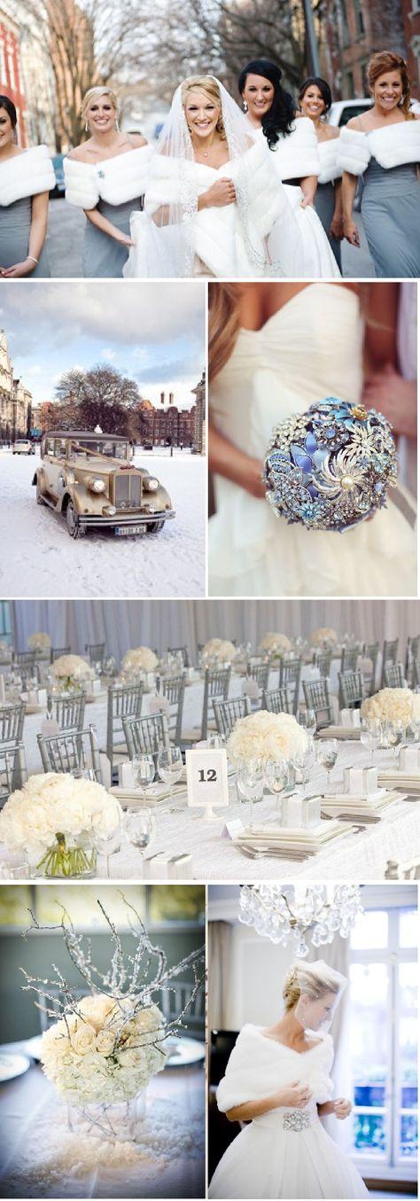 Mariage sous la neige