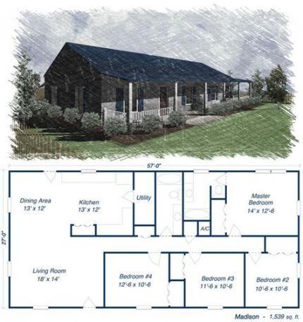 House Plans 4 Bedroom Metal 16 Ideas Metal Building House Plans New House Plans Simple Floor Plans