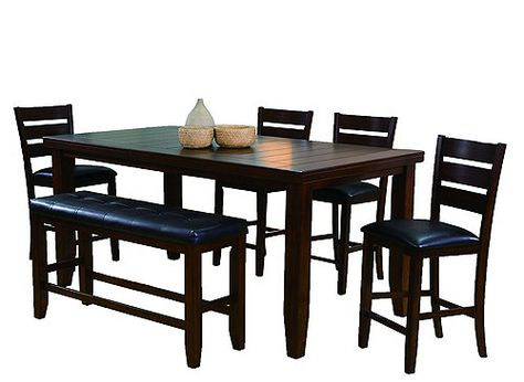 Pleasing Bardstown 6 Pc Counter Height Dining Set W Bench Beach Creativecarmelina Interior Chair Design Creativecarmelinacom
