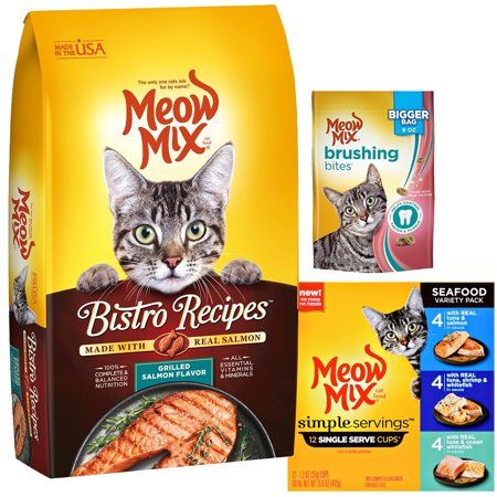 Meow Mix Salmon Experience Bundle Pink In 2020 Dry Cat Food