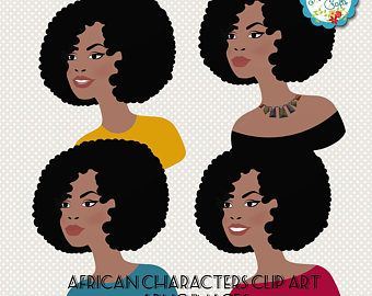 Layla L122 finance girl clipart set with african american skin tones Money saver woman character clipart