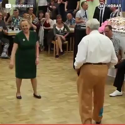 Boogie Woogie dance steps, couple still got the moves.  Have to be in good shape😄