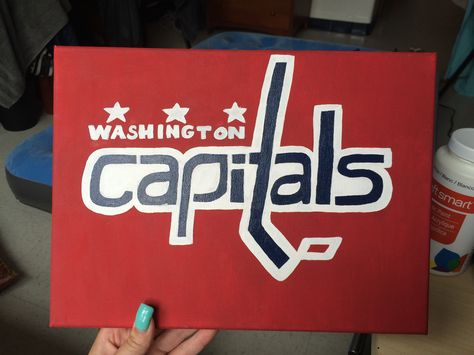 Washington Capitals hockey canvas