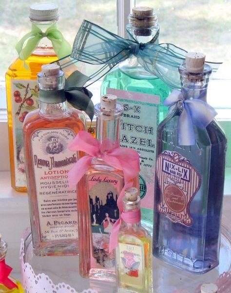 Up-Cycle Bottles and Jars with Decoupage