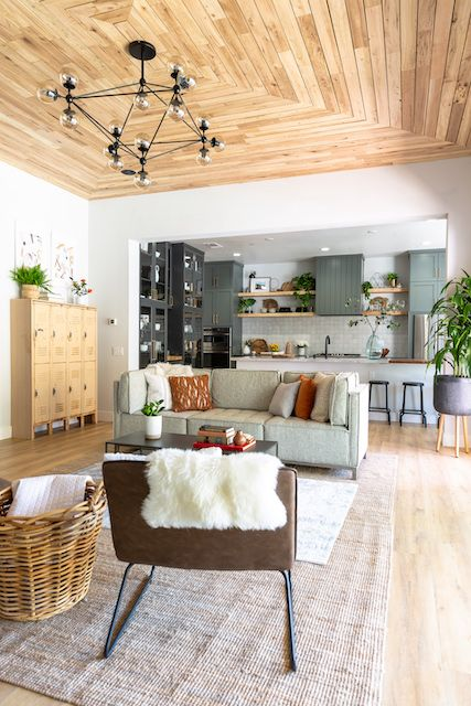 Jasmine Roth Great Room Rock The Block Home Custom Homes Cozy House
