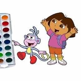 لعبة كتاب تلوين دورا المستكشفة Dora The Explorer Coloring Book Mario Characters Character Fictional Characters