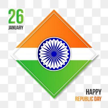 Indias Happy Republic Day With Square Design And Ashoka Vector