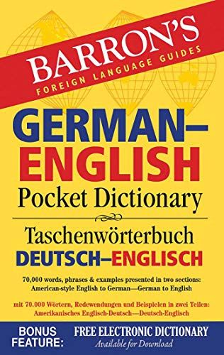 Download Pdf Barrons Germanenglish Pocket Dictionary 70000 Words Phrases Examples Presented In Two Secti English Dictionaries Language Guide Spanish English