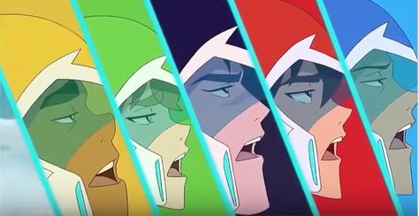 "Lance, Keith, Shiro, Pidge and Hunk weakly- ""Yay."" from Voltron Legendary Defender"