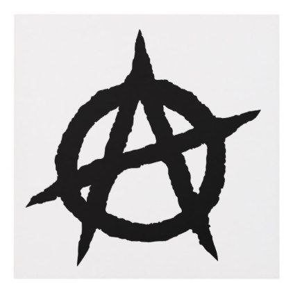 Punk Metal Anti Large Window Car ANARCHY Vinyl Sticker LIGHT BLUE Wall