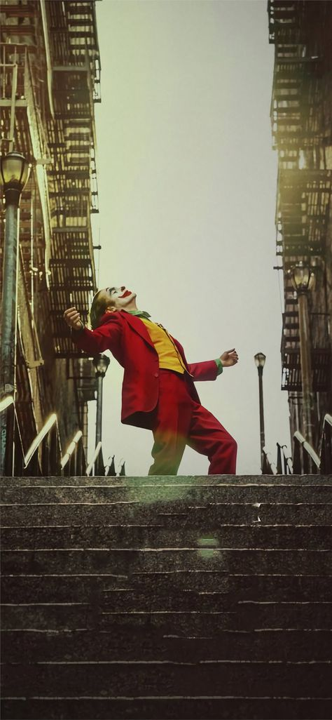 Joker stairs wallpaper