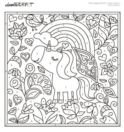 Malen Nach Zahlen Numeros Para Colorir Desenhos Vazados Colorir