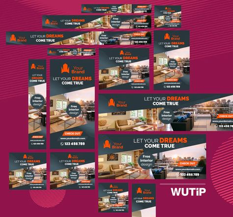 Real Estate Web Ad Banners Templates PSD