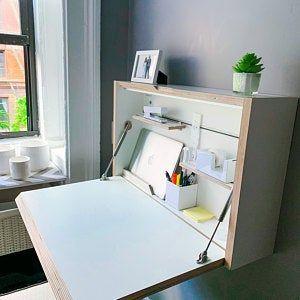 Wall Mounted Folding Desk Space Saving Desk Office Desk Etsy In 2020 Space Saving Desk Folding Desk Space Saving