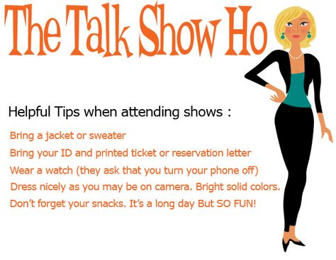 The Talk Show Ho - Get free tickets to Talk Shows and TV Shows - reservation letter