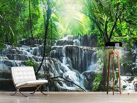 Fototapete Wasserfall Agua Azul Fototapete Fototapete Wasserfall Badezimmer Gunstig