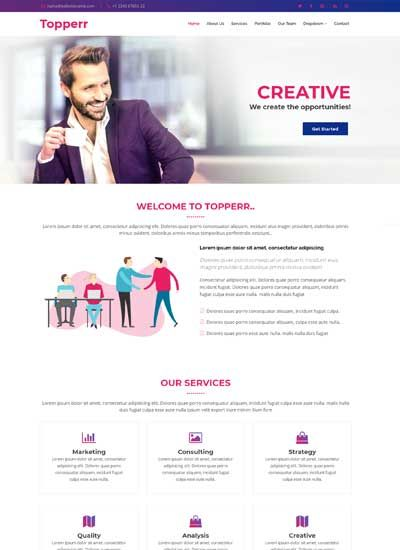 Bootstrap 4 Free Website Template Bootstrap Html5 Webdesign Website Websitedesign Templates Css R Free Website Templates Html5 Templates Template Free