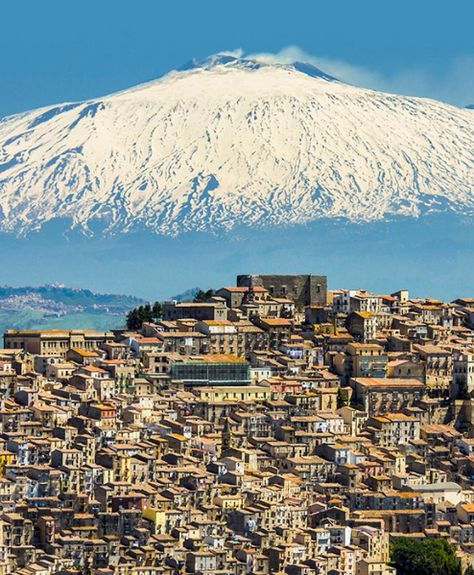 The Sicilian village of Gangi is an hour's drive from Cefalù and boasts views of Mt. Etna.
