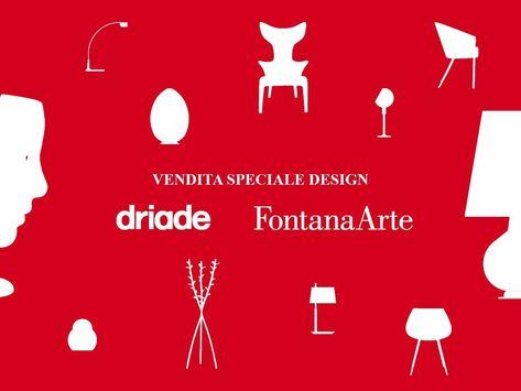 l 23 - 24 - 25 settembre pezzi unici #Driade e #FontanaArte ...