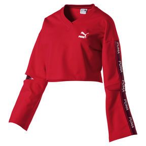 f7a64d0f23 Evolution Women's Cropped V-Neck Sweater, Puma Red   vetement in ...
