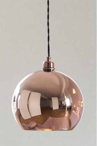 Rose Gold Effect Roseville Easy Fit Pendant Ceiling Pendant