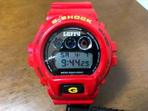 G SHOCK ONE PIECE MONKEY D LUFFY Limited Collaboration DW 6900FS JAPAN Watch