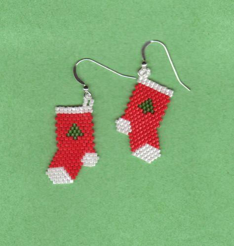 My FAVORITE Xmas Stocking earrings! Very popular!