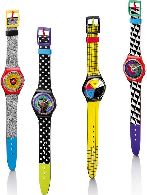 22 Images That Make Nostalgic Swatch Watch The first originals boasted a minimum of color as opposed to the riotous shade symphony present in a number of the later models.
