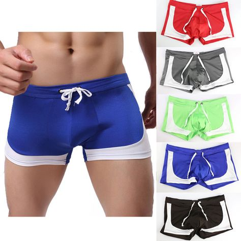 Men Swim Shorts Swimwear Swimming Trunks Underwear Boxer Briefs Summer Pants US