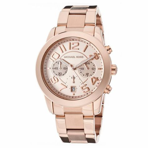 cfbecb7a441c Michael Kors Mercer Rose Gold-Tone Chronograph Ladies Watch MK5727 ...
