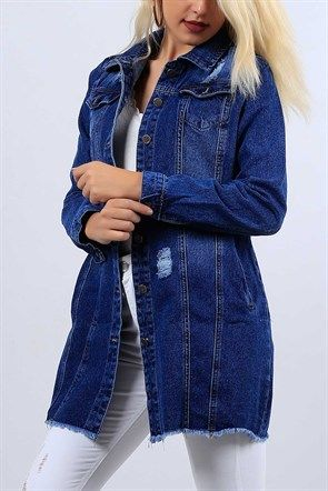 Boy Friend Bayan Mavi Kot Ceket 10400b Kot Ceket Kotlar Tulumlar