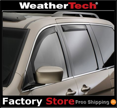 Dark Tint WeatherTech Side Window Deflectors for Lexus GX 2003-2009