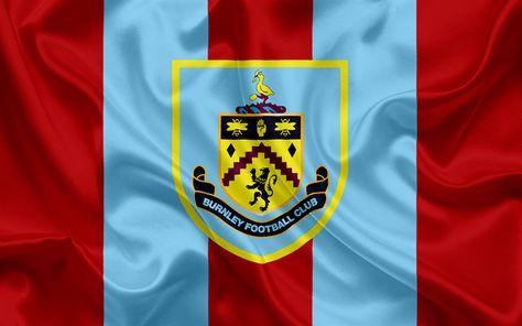 Download wallpapers Burnley, Football Club, Premier League, football, United Kingdom, England, Burnley emblem, logo, English football club